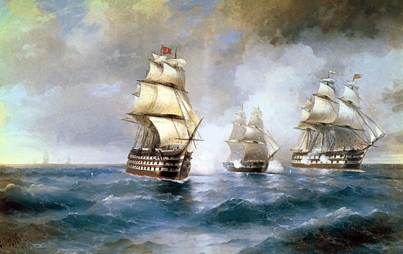 aivazovsky_brig_mercury_attacked_by_two_turkish_ships_1892